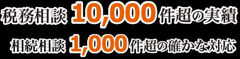 税務相談1万件超の実績、相続相談1千件超の確かな対応